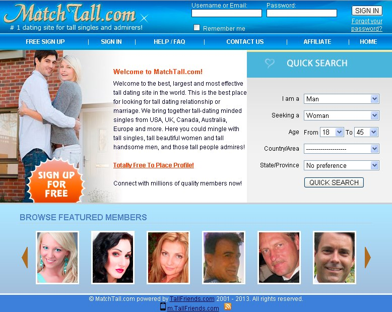 Tall dating site